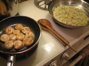 scallops-two-pans